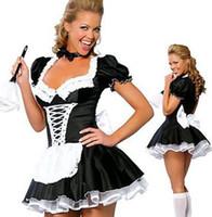 المرأة الفرنسية خادمة زي موحد مثير الكبار اللباس تأثيري