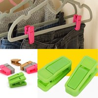Многоразовые одежды колышек универсальный мокрой и сухой одежды вешалки клипы простой в использовании ABS пластик прищепка