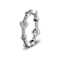 Kompatibel mit Pandora Schmuck Ring Silber verführerische Herzen Ringe mit CZ 100% 925 Sterling Silber Schmuck Großhandel DIY für Frauen