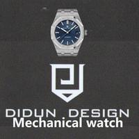 DIDUN-automatische mechanische Uhren Top Uhren Herren Stahl Mal Geschäfts-Armbanduhr wasserdicht