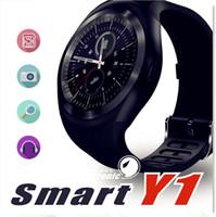 Y1 Smart-Uhren 1,54 Zoll IPS Runde Touchscreen Wasserdicht Smartwatch Telefon mit SIM-Kartensteckplatz Smart Watch für iOS Android
