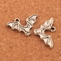 Antique Silver Bat with Open Wings Spacer Contas Charme 200 pçs / lote Pingentes Liga Jóias Artesanais DIY L979 15.8x23.9mm