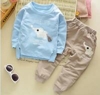 Bebek erkek giyim setleri 2018 sonbahar bahar çocuk kız erkek karikatür Fil spor takım elbise çocuklar kazak + pantolon eşofman setleri