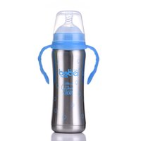 Nuovo biberon in acciaio inox Thermos Bottle Handle Anti-flatulence Capezzolo Straw 3-in-1 Milk