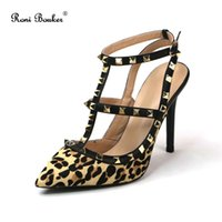 Women Leopard Fashion Shoes Sexy High Heels Pointed Toe Lady...