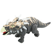 Electric trigonometric dinosaur toy lights Can walk with lig...