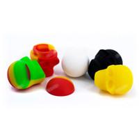 SKULL Récipient en silicone, pots de silicone antiadhésif 3ML, Récipient en cire, pots de silicone FDA, tampons pour accessoire de fumeur