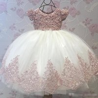 Lovely Lace Ball Gown Flower Girl Dresses For Weddings 3D Ap...