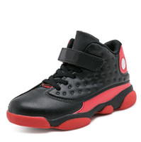 Top brand new child high basketball shoes boys non- slip runn...