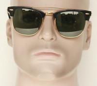 Gota de transporte de acetato poltrona moldura de vidro lente 901 mulheres óculos de sol, unisex 51mm meia-aros ponte dupla senhora óculos de sol, dias de azevinho de lazer