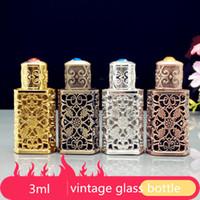 3ml Retro Miniture Vintage Glasflaschen für arabisches Parfüm, leere antike Glasflasche, kleine Glasflasche der arabischen Parfümbronzeflaschen