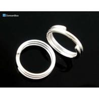 Doreen Box Lovely 400 PC Colore argento Doppi anelli Open Jump Rings 8mm Dia. Risultati (B04161)