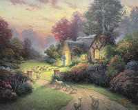 The Good Shepherd Cottage Thomas Kinkade Oil Paintings Art W...