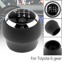 6 Speed ABS Plastic + PU Leather Manual Transmission Gear Sh...