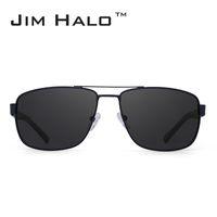 Jim Halo Polarized Driving Sunglasses Metal Frame Square Lens Sun Glasses Men Women Oculos Fishing Hiking Outdoor Sports Eyewear