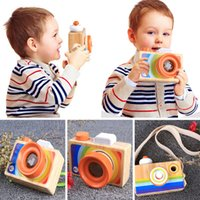Mini Cute Wood Camera Toys Safe Natural Toy For Baby Childre...