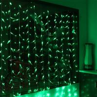3 M x 3 M 300LEDS Artificial Salix Folha Videira Do Casamento Folhas de Cortina de Luz para o Jardim Casa Luminárias LED Decoração Luzes de Natal 110 V 220 V