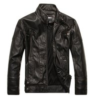 Giacca da uomo 2021 New Fashion Trend Men's Motorcycle PU Giacca in pelle in pelle Jackke Uomo Clothers Taglia M-5XL