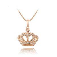 Luckyshine3Pcs/Lot 2 Color High quality Austrian Crystal Zircon Gemstone 29*23 mm Crown Fashion Women Wedding Pendant Weddings Jewelry Hot