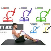2018 New Gym Fitness Yoga Foot Pedal Pull Rope Tube Equipmen...