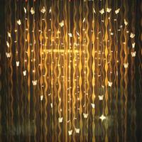YIYANG 2x1.6m Mariposa Cortina LED Cadena de luz 34 Corazones Luces Multicolor Vacaciones Boda Decoracao Cortina lámparas UE Reino Unido AU