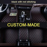 Veeleo Ismarlama 6 Renkler Deri Audi BMW için Tüm Araba Modeli Oto Paspaslar Su Geçirmez kaymaz Araba Paspasları 3D halılar