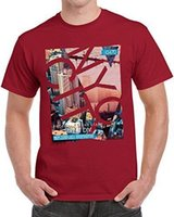 T-Shirt stampata New York State USA America Cool Gift NYC Times Square rossa