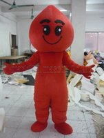 Blood drop mascot costume Free Shipping Adult Size, Flame lux...