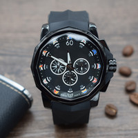 orologio di luss Zwölf seitliche Form Herrenuhr Quarzit Multifunktions-Timing Stahlschale Gummigürtel Sportliche ADMIRAL'S CUP-Armbanduhr