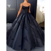 Vestidos De Noiva Fiesta 2019 Hot Sale Simple Strapless Ball Gown Prom Dresses Applique Satin Evening Gowns