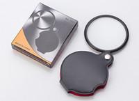 المحمولة البسيطة الأسود 50 ملليمتر 8x باليد القراءة القراءة المكبرة عدسة زجاج طوي المجوهرات حلقة المجوهرات loupes مع حزمة مربع التجزئة