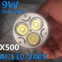 X500 9W regulable Bombilla LED 12W 15W Luces de bulbo GU10 / MR16 / E27 E14 / B22 LED Focos CREE 3x3W luces de ahorro de energía LED Bombillas / Iluminación