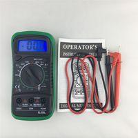Yeni gelmesi Arka Işık Dijital LCD Multimetre Voltmetre Ampermetre XL830L AC DC OHM Volt Test Cihazı Test Akımı