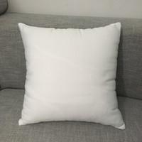 """16 """"x16"""" taie d'oreiller en polyester blanc taie d'oreiller blanc pur couverture en toile de polyester 100% pour sublimation"""
