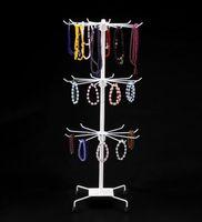 Venta caliente Nuevo Collar de Metal Pulsera de Cadena Rotación exhibición Holder Soporte de exhibición de la joyería Rack peluca corbata bufandas pulsera Perchero