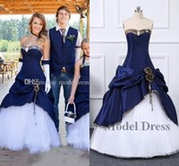 2020 New Cowboy Camo Wedding Dresses Sweetheart Pleats Corse...