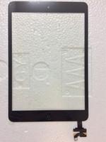 Ücretsiz dhl veya ems 100% Tamamlandı iPad mini 1 mini IC Için 2 Düğme Ile Dokunmatik Ekran Digitizer Ekran Flex Kablo