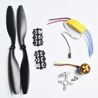 1 stücke A2212 1000KV Brushless Outrunner Motor + 1 stücke 30A ESC + 1 pairs 1045 schwarz Propeller für RC Aircraft Quad Multicopter DIY