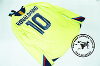 Free shipping 2005 06 long sleeves ronaldinho messi xavi puy...