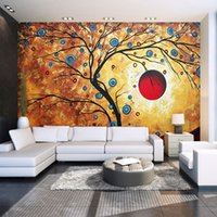 Custom Photo Wallpaper Abstract Tree Modern Art Pintura de la pared Sala de estar Dormitorio TV Telón de fondo 3D Gran Mural Wallpaper para el hogar
