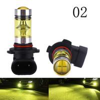 2 pièces 100W H4 H1 H3 H7 H11 LED ampoule 20 lumière de brouillard de voiture SMD 12V ~ 24V lumière de voiture blanche 3000K jaune ambre 3000K