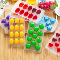 7 Types Cute DIY Ice Cream Silicone Molds Ice Cube Tray Free...