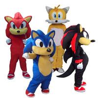 2018 Heißer verkauf Sonic Und Miles Tails Maskottchen Kostüm Phantasie Party Kleid Karneval Kostüm