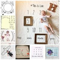 16 estilos Recém-nascidos Fotografia Adereços Cobertor Letras Números Impresso Cobertores Do Bebê Das Meninas Dos Meninos Infantil Foto Adereços Acessórios GGA325 15 pcs