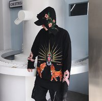 Top Quality Embroidery Hoodies For Men Women Flower Tiger Em...