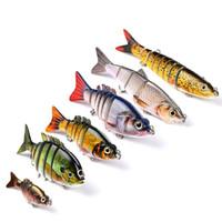 Yeni Dudaksız Eklemli Balıkçılık lure set 6 stilleri 3D Gözler Tuna Shad Gerçekçi yem bölümleri Canlı baitfish 6 adet / takım