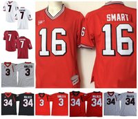 NCAA Georgia Bulldogs DAWGS Retro 16 Kirby Smart 27 Nick Chu...