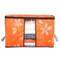 bolsas de almacenamiento para no tejido armario Manta portátil doblar la ropa del armario almohada edredón del lecho Organizador A803 29