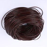 100 meter / löhne großhandel braune echtes leder schnurkette halskette seil lange kette diy schmuck erfahren bauteile