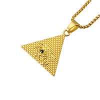 أزياء الرجال الشر العين قلادة الهيب هوب مجوهرات شعبية الذهب والفضة اللون 75 سنتيمتر سلسلة طويلة قلادة القلائد للرجال